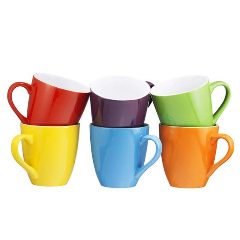 Promo cheap custom printed ceramic coffee mugs logo