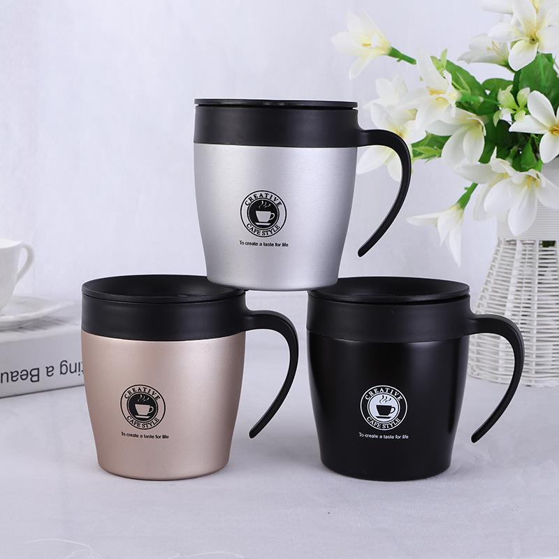 Creative Gift 350ML Vacuum Insulated Stainless Steel Potable Coffee Mug With Lid