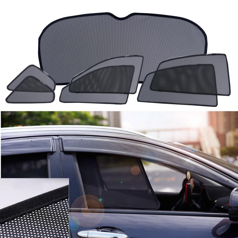 Magnets installed car lasershades for B MW