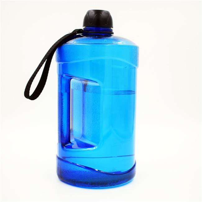 2.2L Big Plastic Sports Water Bottle With Short Lanyard