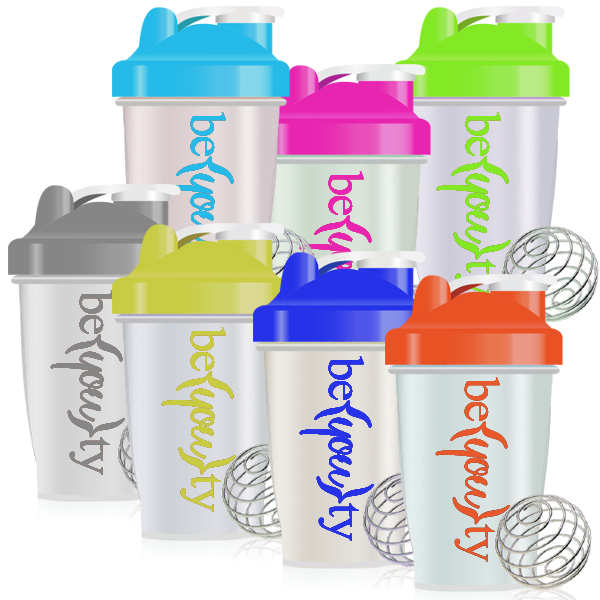 PP 400ml Classic Shaker Protein Bottle with Volume Mark & Mixing Ball