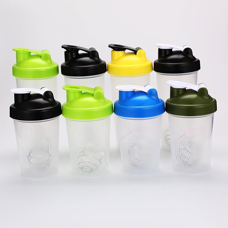 Custom logo 400ml 600ml 20oz plastic shaker bottle BPA free plastic drinking bottle