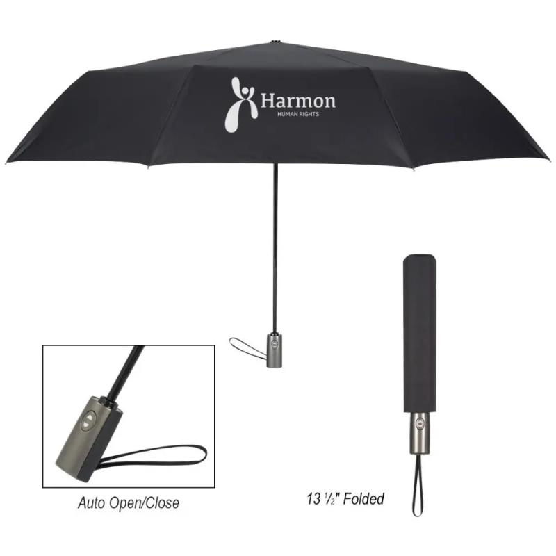 printing logo automatic folding custom umbrella