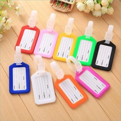 wholesale airplane travel baggage suitcase custom plastic pvc luggage tag