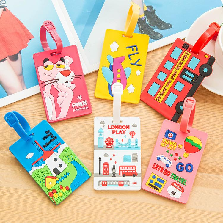 wholesale custom rubber luggage tag