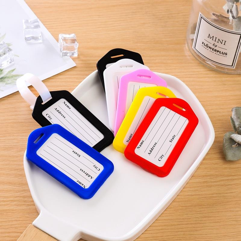 travel luggage checked essential tag candy color soft luggage tag