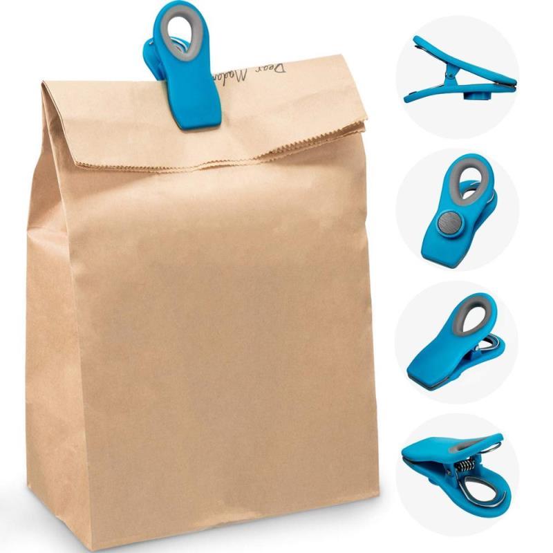 Multiple Colors Good Grip Magnetic Plastic Bag Clips