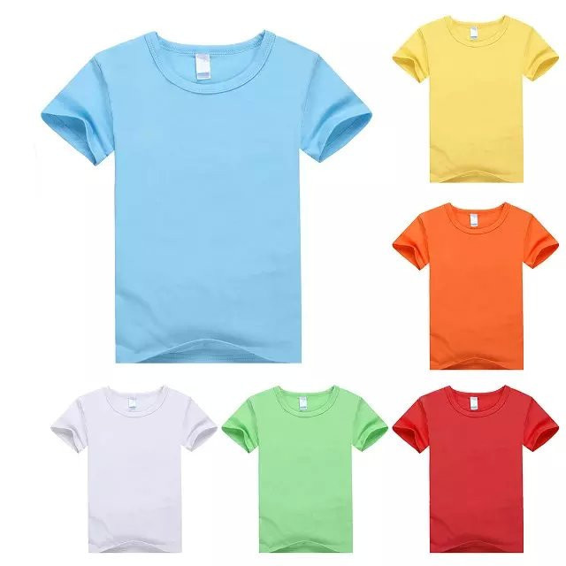 2019 New style kids bulk t shirt short sleeve children plain t shirt oem