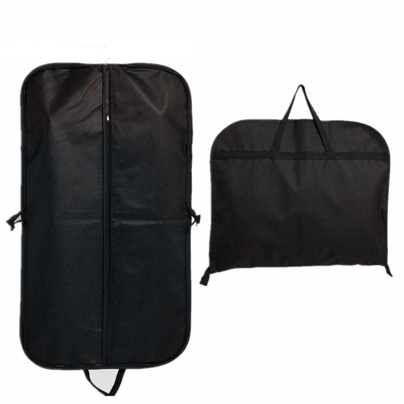 Wholesale Foldable Non Woven Clothes Garment Suit Coat Dust CoverWholesale Nylon Garment Bags , Black storage bag Coat Suits Dust Cover