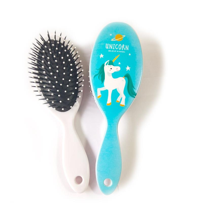 New Design Factory Wholesale Printed Plastic Hair Brush Airbag Massage Comb