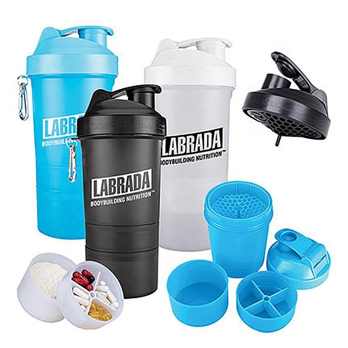multi-function leak-proof plastic compartment fitness metal carabiner outdoor shaker joyshakers bottle