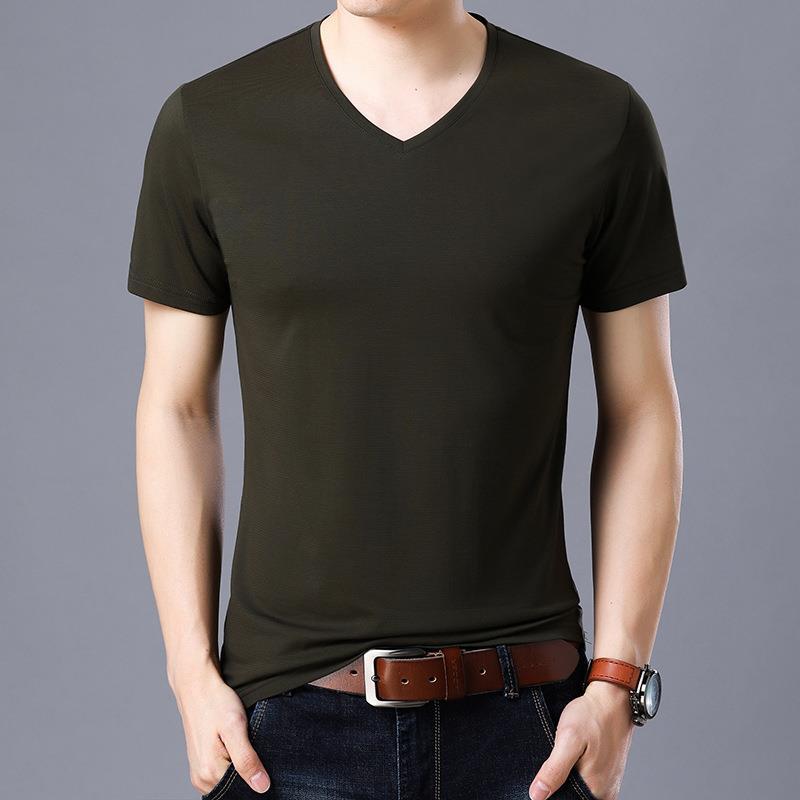 Wholesale Men T-Shirt Short Sleeve V-Neck T-Shirts