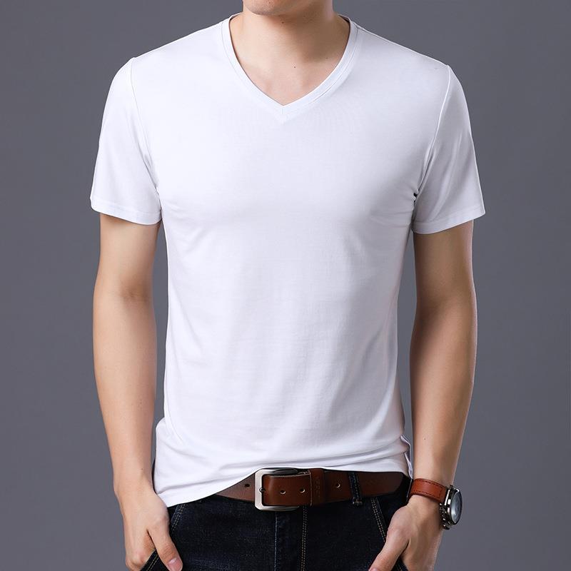 Wholesale Muscle Fit Custom Black T shirt V-neck T-Shirts