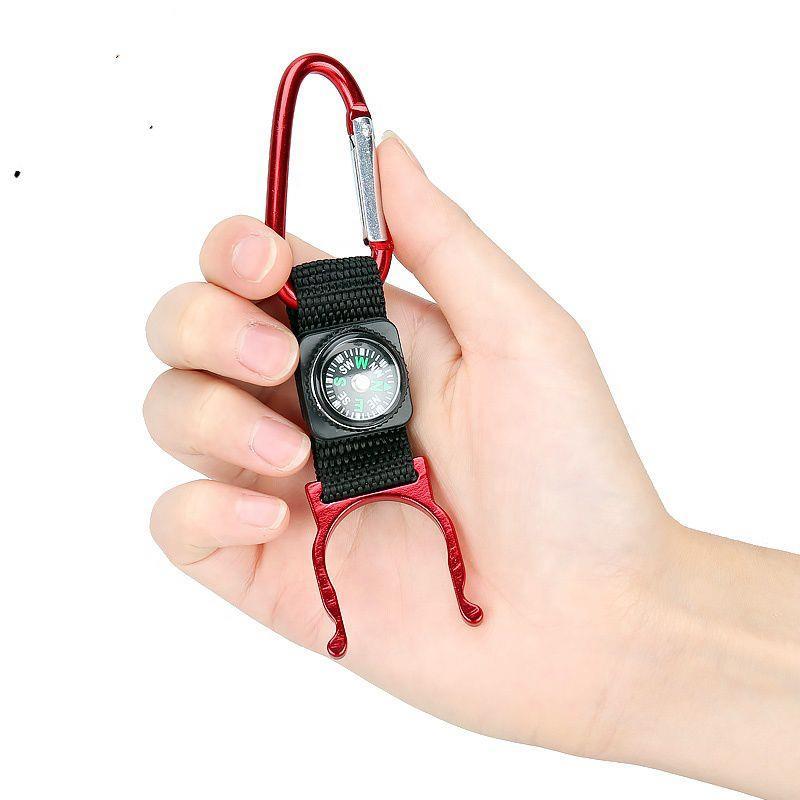 Portable Climbing Orientation Compass Colorful Mini Carabiner Keychain Compass