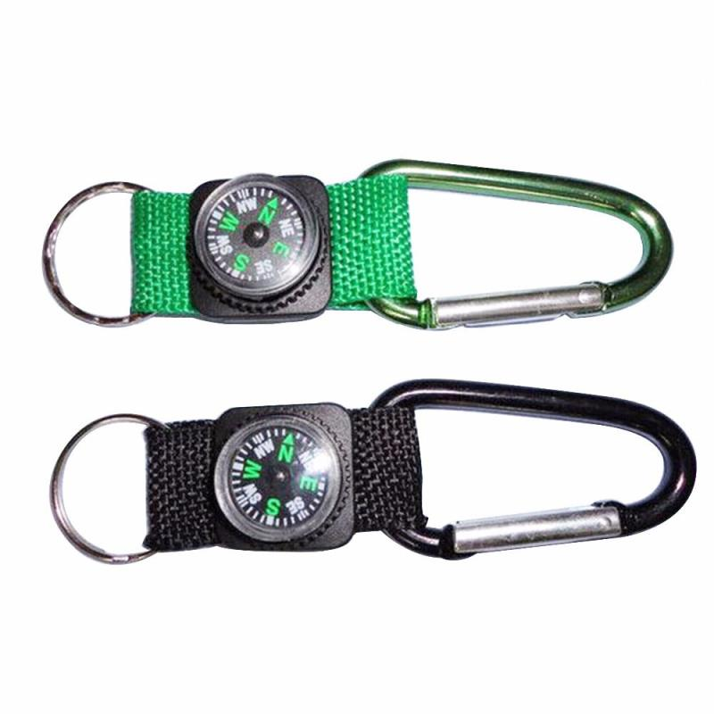 Promotional SOS Tracking Device High Accuracy Digital Compass With Carabiner Hook Compass Keychain