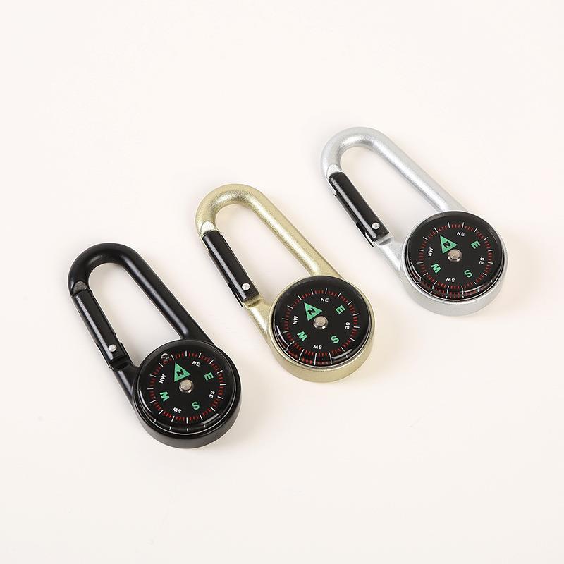 Mini carabiner metal compass