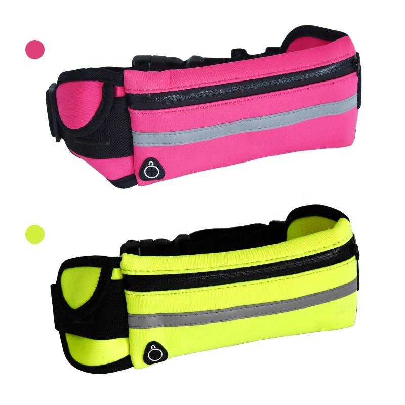 Customize Waterproof Reflective Waist Bag Fanny Pack Running Belt