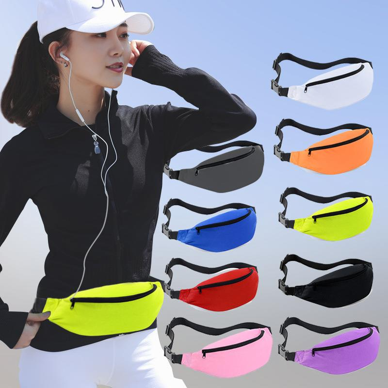 Custom Design Multi-colors 1 zippers Sport Fanny Pack
