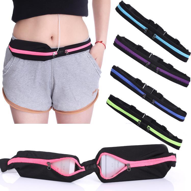 2019 Unisex Running Bum Bag Travel Handy Hiking Sport Waist Belt Zip Fanny Pack Running Bag