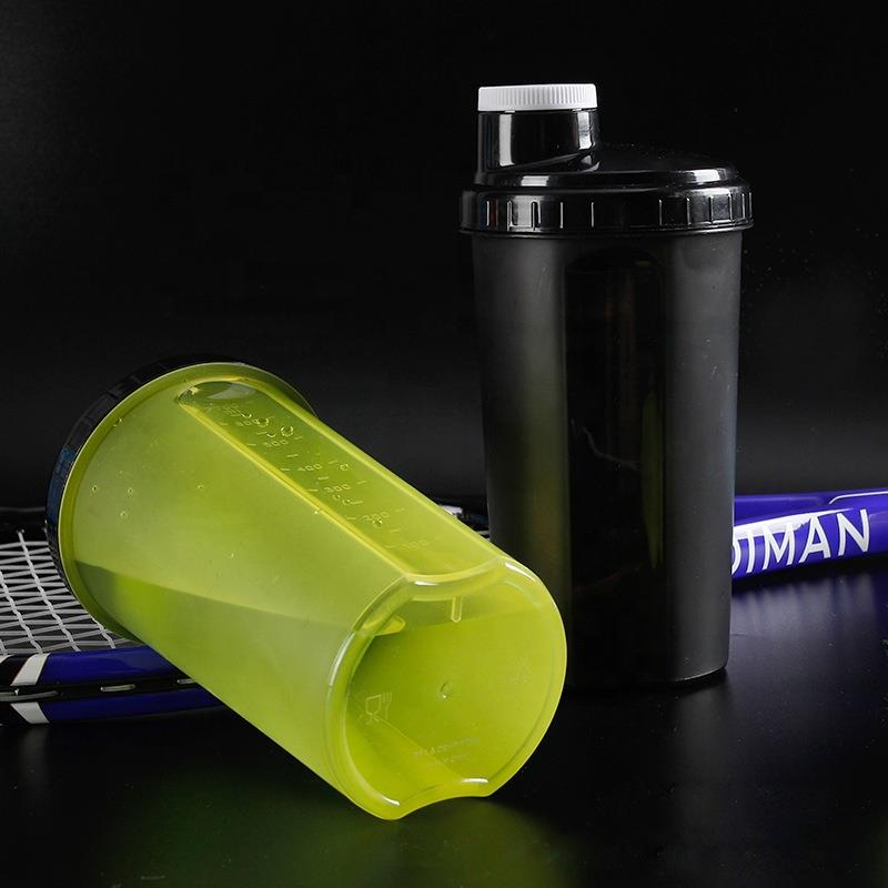 high quality custom logo shake protein powder shaker bottle