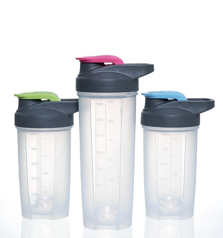 New Eco-friendly PP Plastic Protein Shaker bottle with custom logo