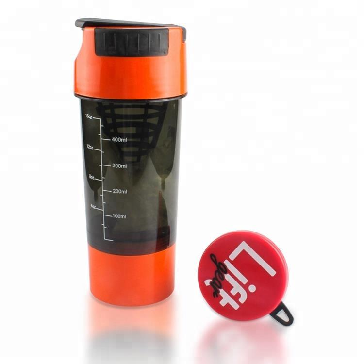 700ml easy taken water bottle sport protein shaker with lid