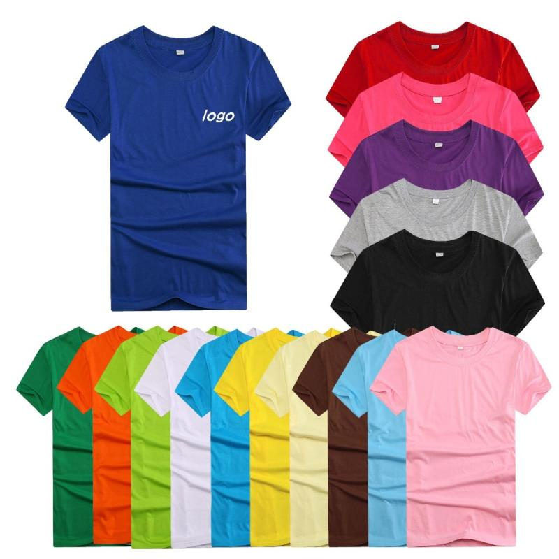 Wholesale high quality 160g polyester cotton Customized T-Shirts for men
