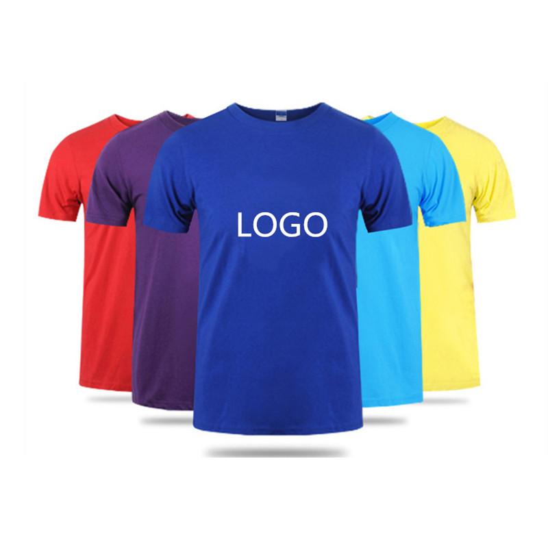 Wholesale Custom Men tshirt Basic Plain 100% Cotton Short Sleeve O Neck Blank printing LOGO T-Shirt