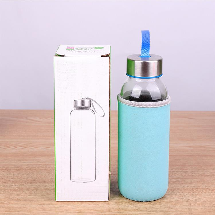 Could contain hot water 16oz unbreakable silicone round glass bottle design
