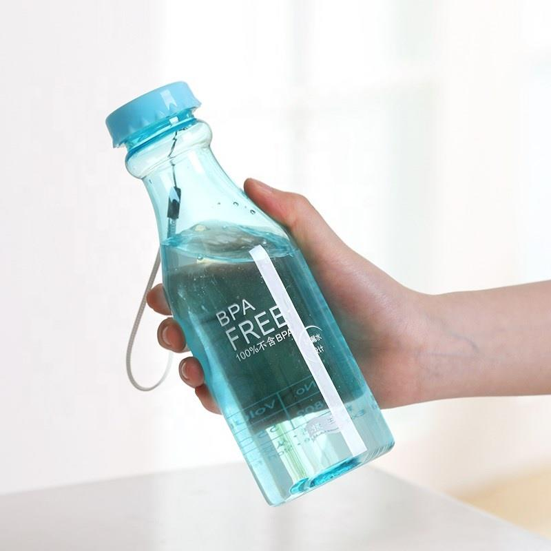 colorful cheap 500 ml beverage plastic water bottle houseware branded plastic water bottle