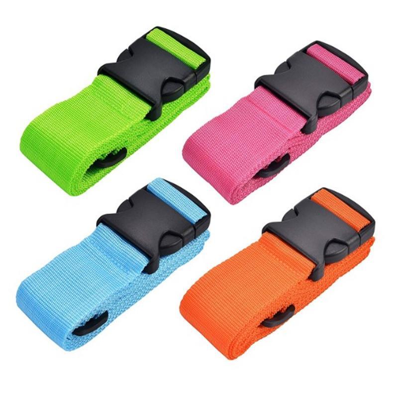 Promo custom adjustable travel nylon luggage belt strap