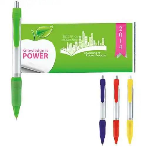 Customized Advertising Pull out Retractable Banner Pen