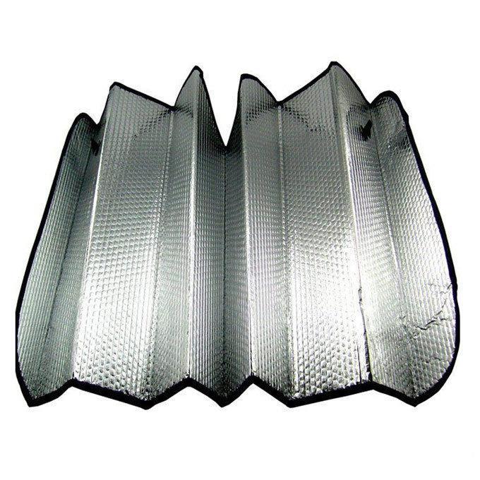Cheap PEP coated aluminum film foldable car sunshade for car