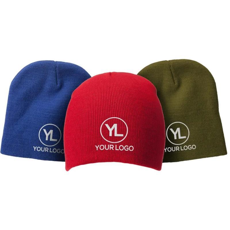 custom woolen knitted pom beanie hat cap