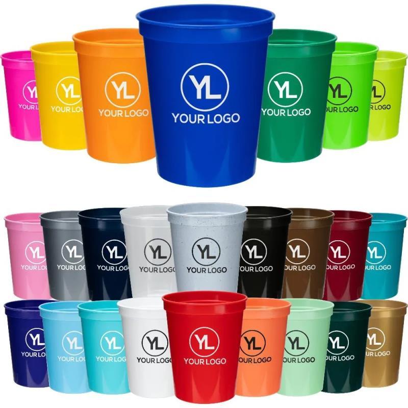Colorful 16 OZ Customized Stadium Plastic Cup