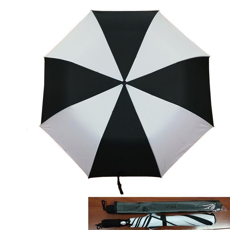2 fold golf umbrella with logo printing