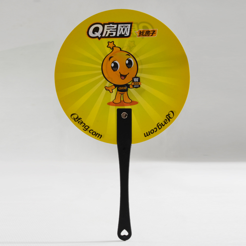 Custom cheap promotional PP Plastic Advertising Hand Fan