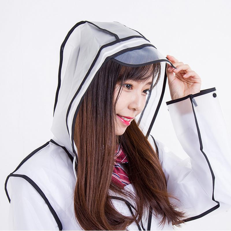 Fashion Outdoor Waterproof EVA Raincoats with caps Rainwear For Adults