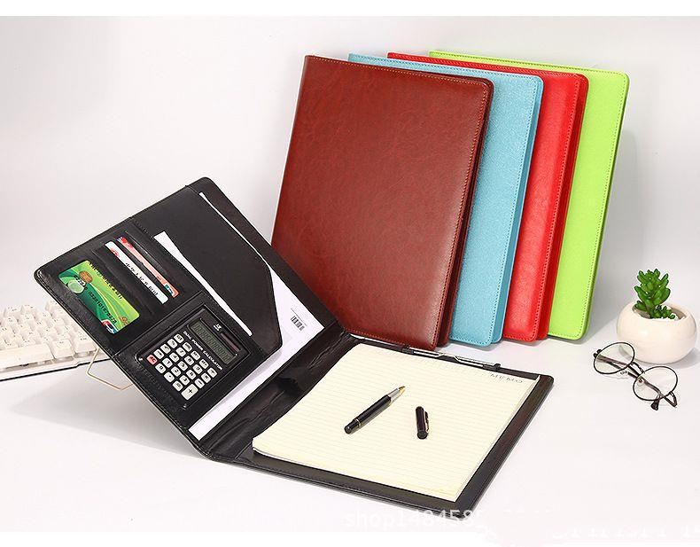 A4 Business Multifunctional Folder Cortical Belt Calculator Office