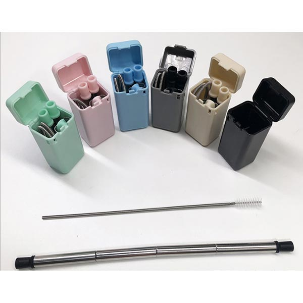 Folding stainless steel straw