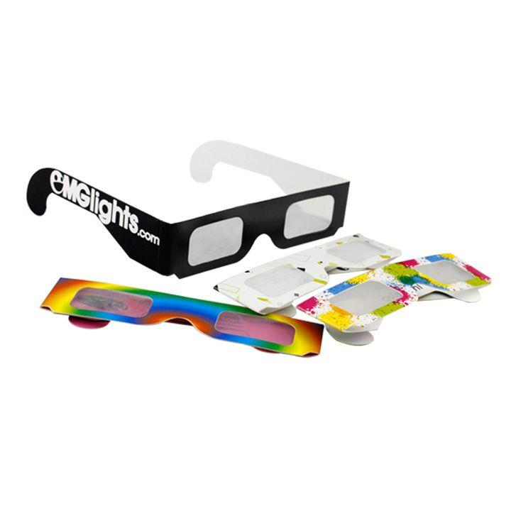 Paper Cardboard 3d Fireworks Glasses Diffraction Glasses