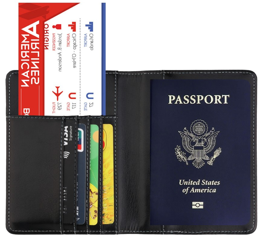 PU leather Passport Holder/Cover/Case Travel Wallet