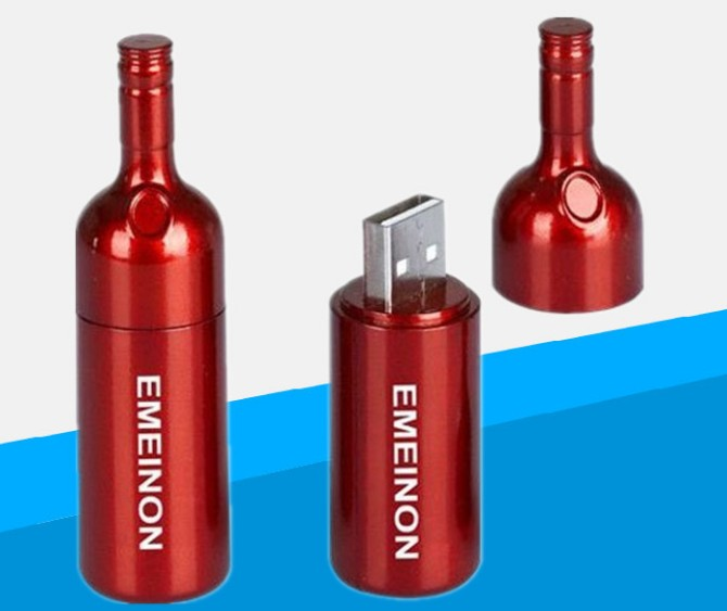 Wine Bottle Flash Drive
