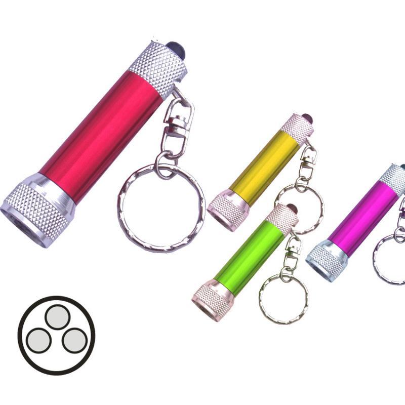 Aluminum engraved led keychain light for promotion item