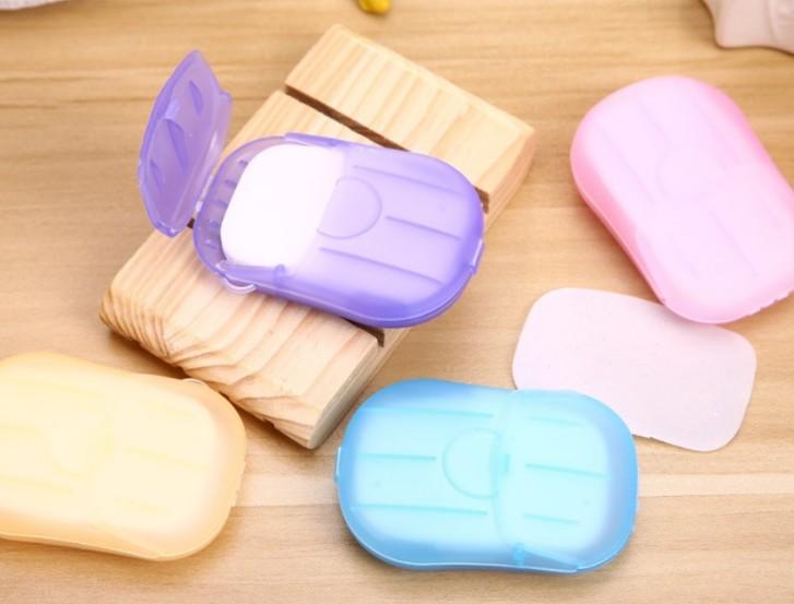 Portable box of soap paper