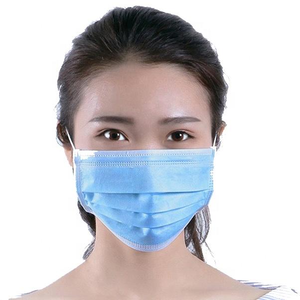 factory 3 Ply Protective Facial Disposable Face Mask Non-woven Earloop Face Mask