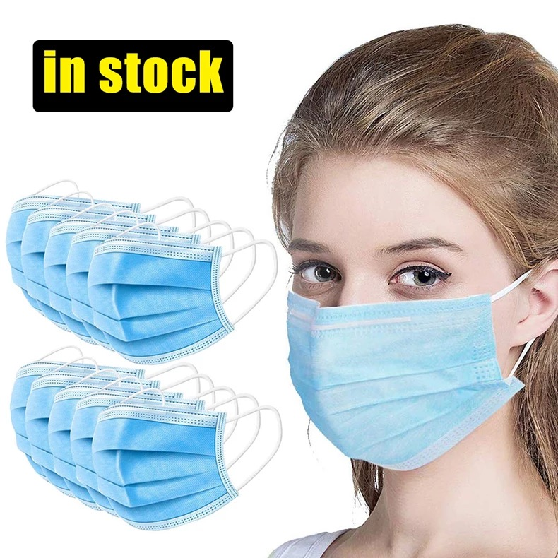 99% BFE 3ply Rispiratory Mask Non Woven with Melt-blown Face Mask