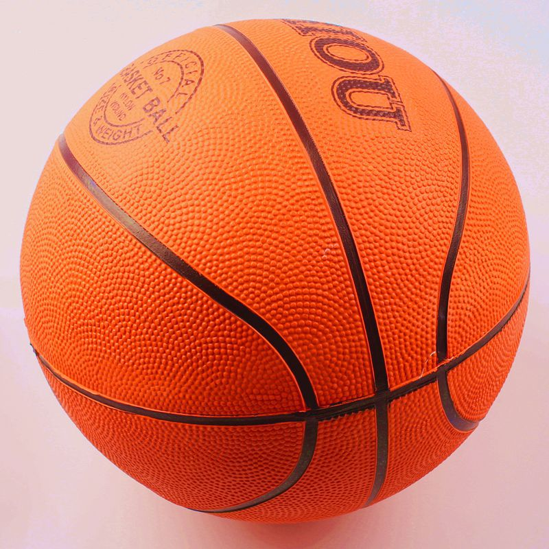 Cheap outdoor size 7 rubber basketball with custom printing and logo