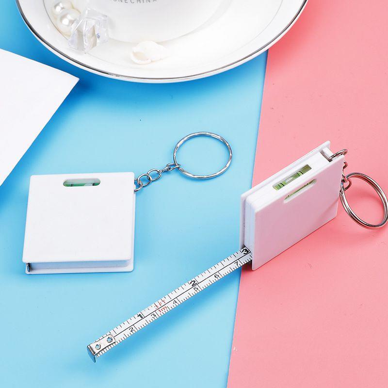 Pink lovely tape gift bulk sale OEM mini steel tape measure with spirit level