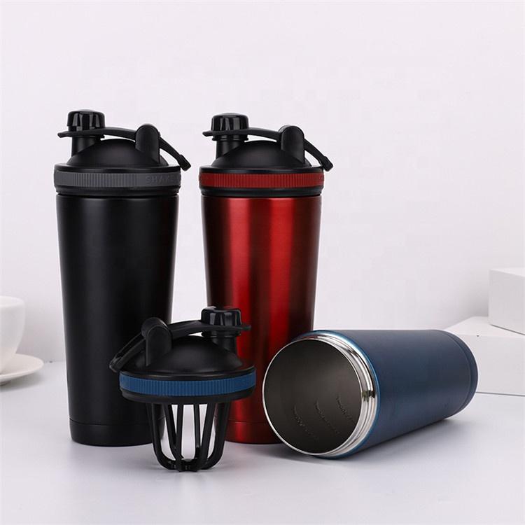 25 oz Gym Sports Stainless Steel Protein Shaker Bottle Metal Custom Wholesale Shaker double wall vacuum Shaker Bottle
